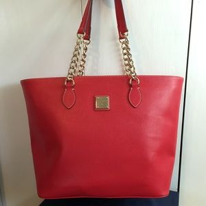 Dooney & Bourke Gold Chain Handled Large Tote